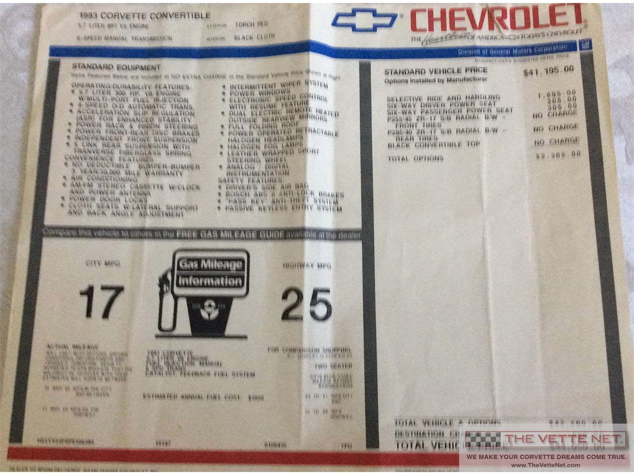 Large Picture of 1993 Chevrolet Corvette located in Florida - $19,990.00 - LISB