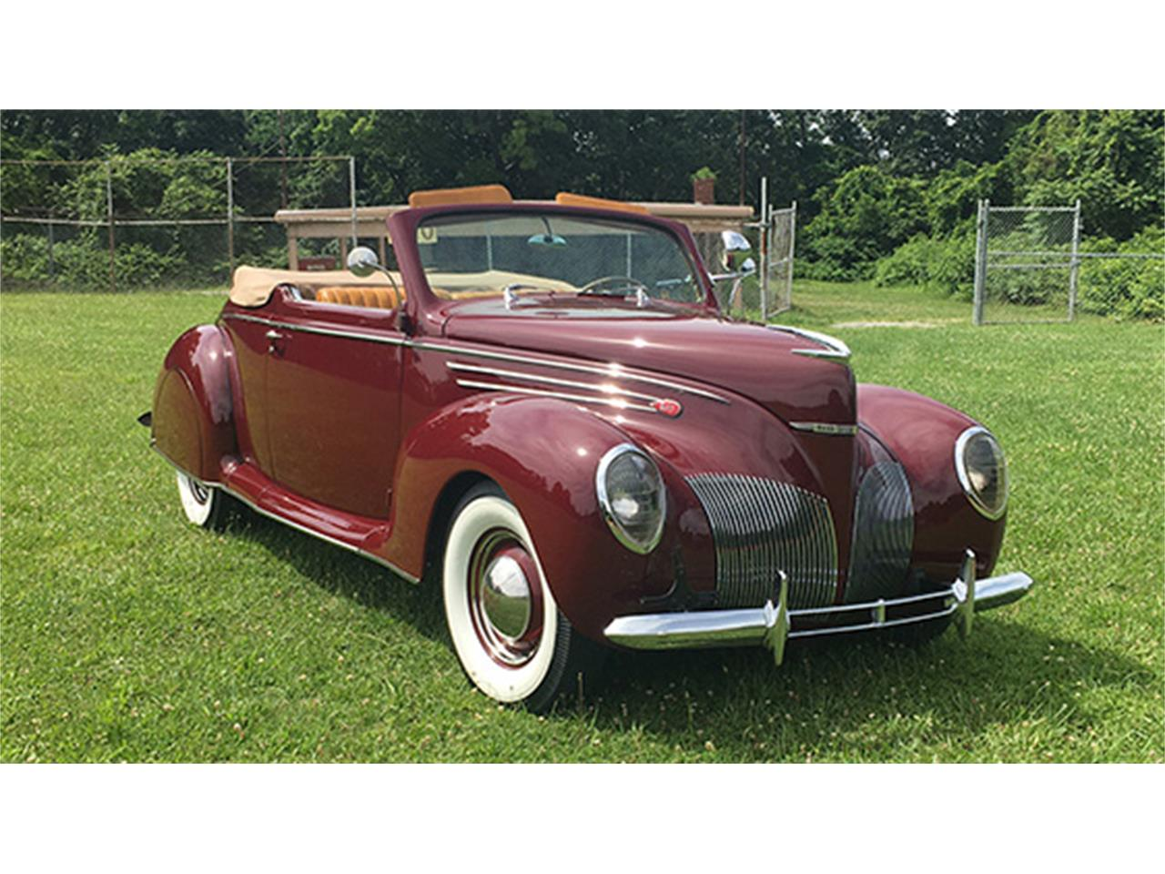 1939 Lincoln Zephyr V 12 Convertible Coupe For Sale Classiccars