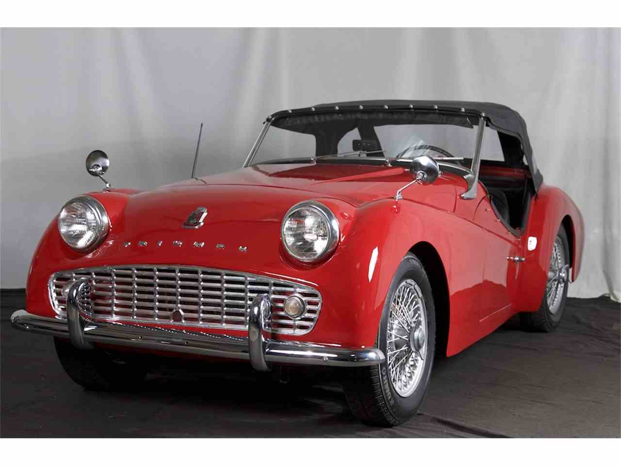 Classic Cars For Sale California Usa: 1959 Triumph TR3A For Sale