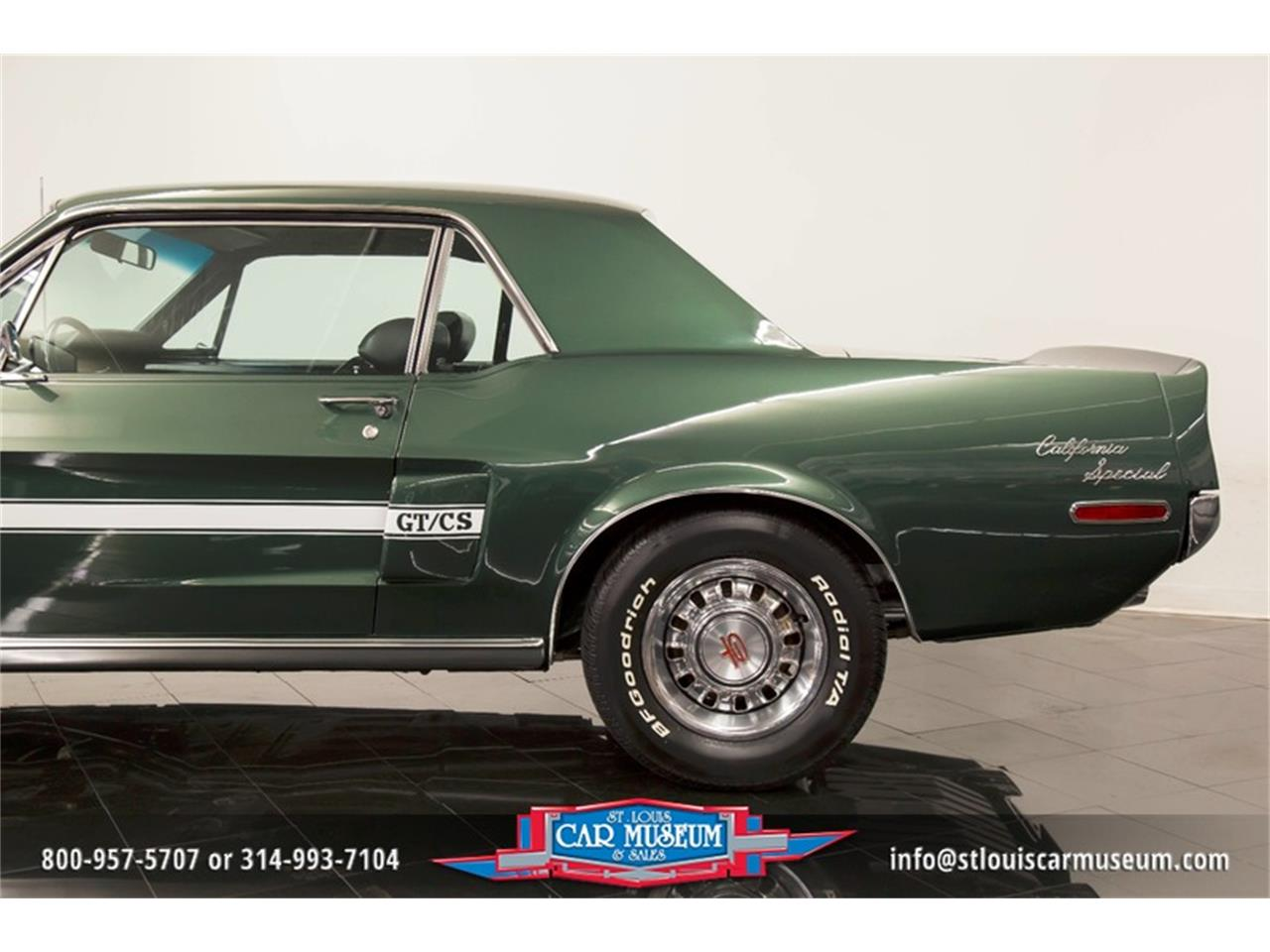 Large Picture of Classic '68 Ford Mustang GT/CS (California Special) Offered by St. Louis Car Museum - LWVZ
