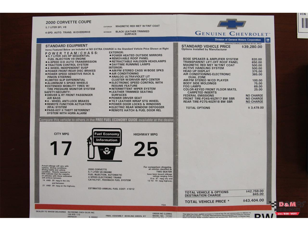 Large Picture of '00 Chevrolet Corvette - $15,995.00 - LVA3
