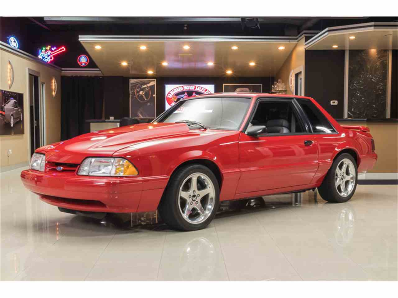 1993 ford mustang lx notchback for sale cc 1031903. Black Bedroom Furniture Sets. Home Design Ideas