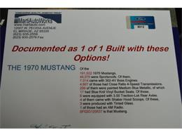 Picture of 1970 Ford Mustang located in Houston Texas Offered by Frank's Car Barn - M7WN