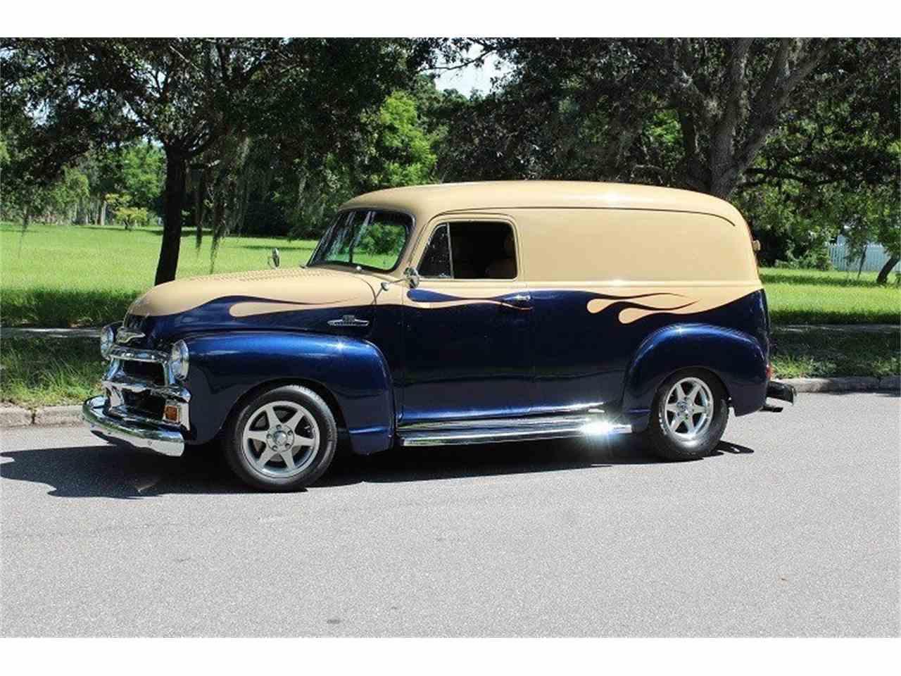 1955 chevrolet 3100 custom panel van for sale cc 1039348. Black Bedroom Furniture Sets. Home Design Ideas