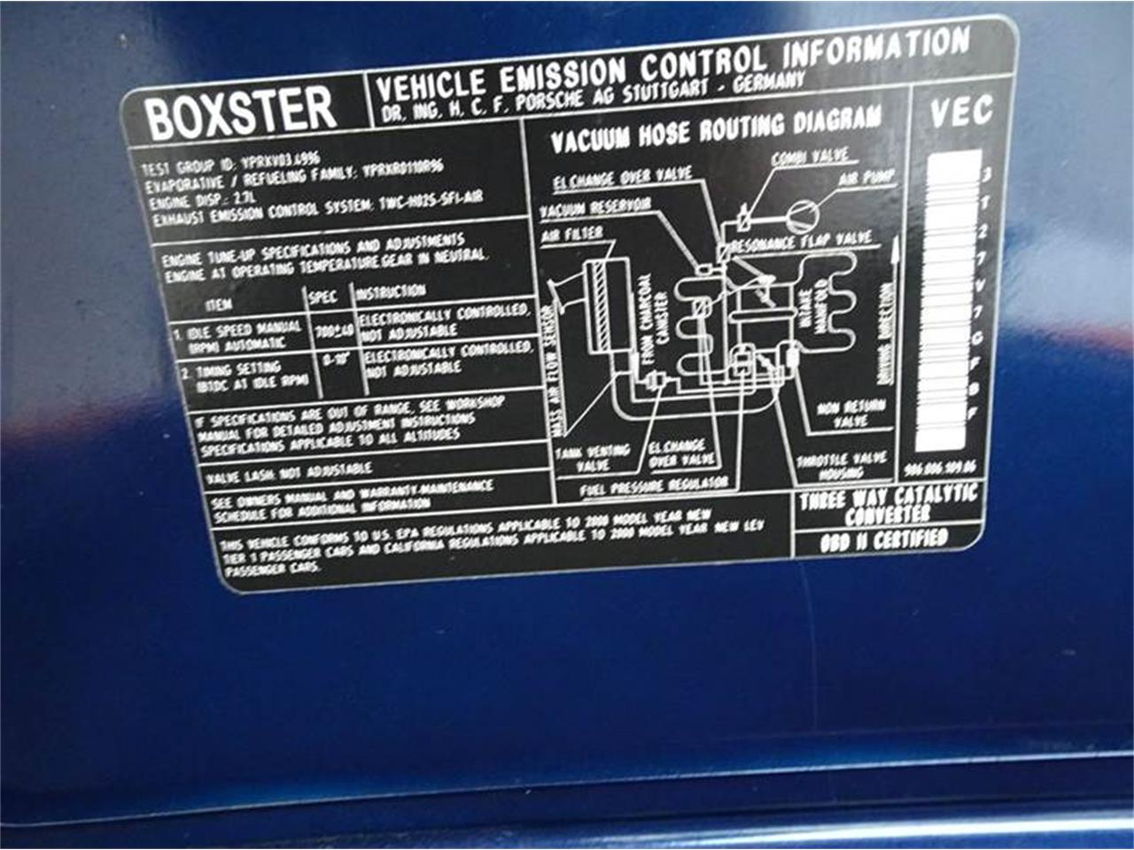 2000 Porsche Boxster For Sale Cc 1039855 Engine Diagram Large Picture Of 00 Macv
