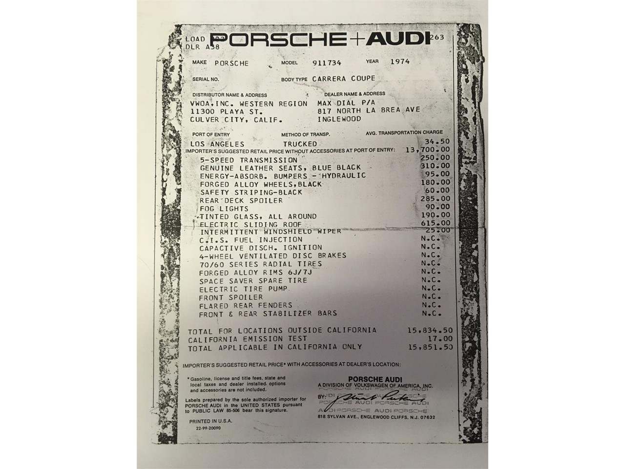 Large Picture of '74 911 Carrera 2.7 - $118,000.00 Offered by a Private Seller - MBFF