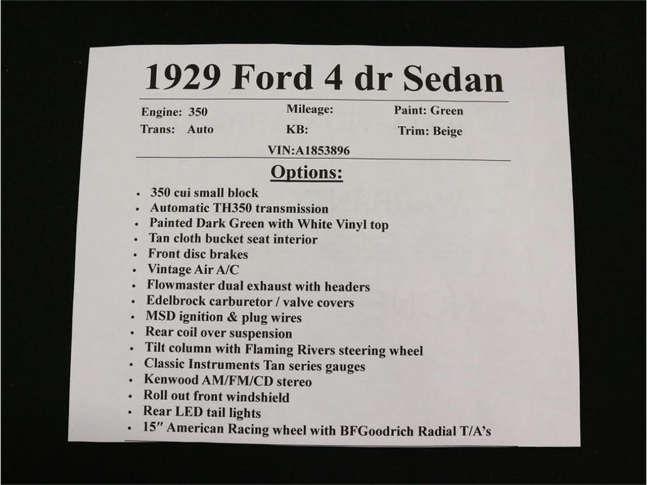 Large Picture of Classic 1929 Ford Model A - $38,995.00 Offered by Streetside Classics - Dallas / Fort Worth - MAV8