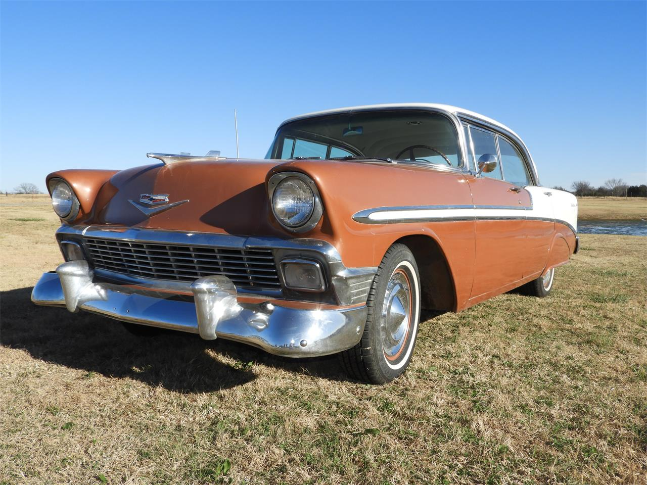 Large Picture of '56 Chevrolet Bel Air located in Shawnee Oklahoma Auction Vehicle - MHU4