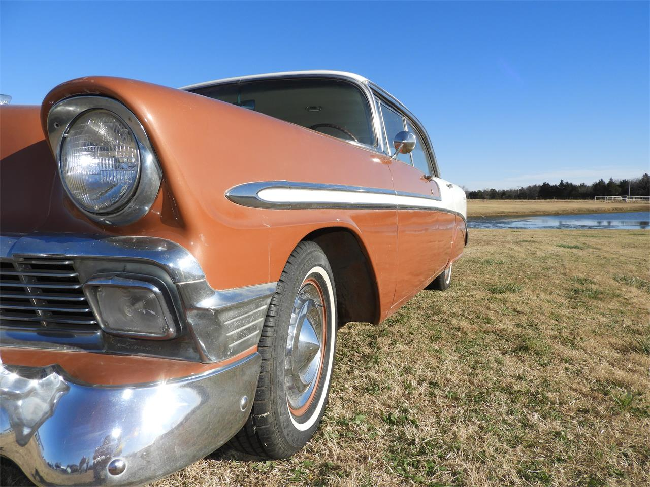 Large Picture of '56 Chevrolet Bel Air located in Oklahoma Offered by Ball Auction Service - MHU4