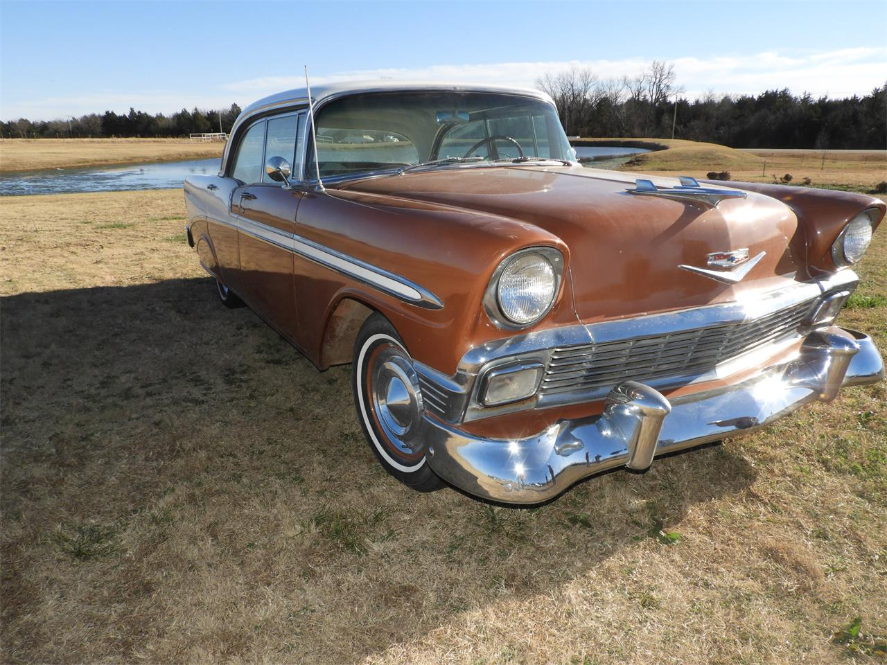 Large Picture of Classic 1956 Chevrolet Bel Air located in Shawnee Oklahoma Auction Vehicle Offered by Ball Auction Service - MHU4