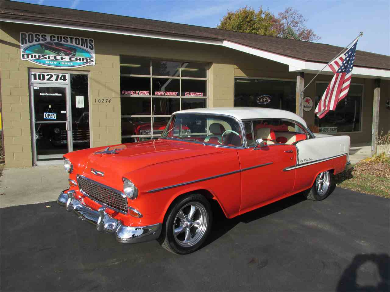 Large Picture of Classic '55 Bel Air located in Goodrich Michigan Offered by Ross Custom Muscle Cars LLC - MB7V
