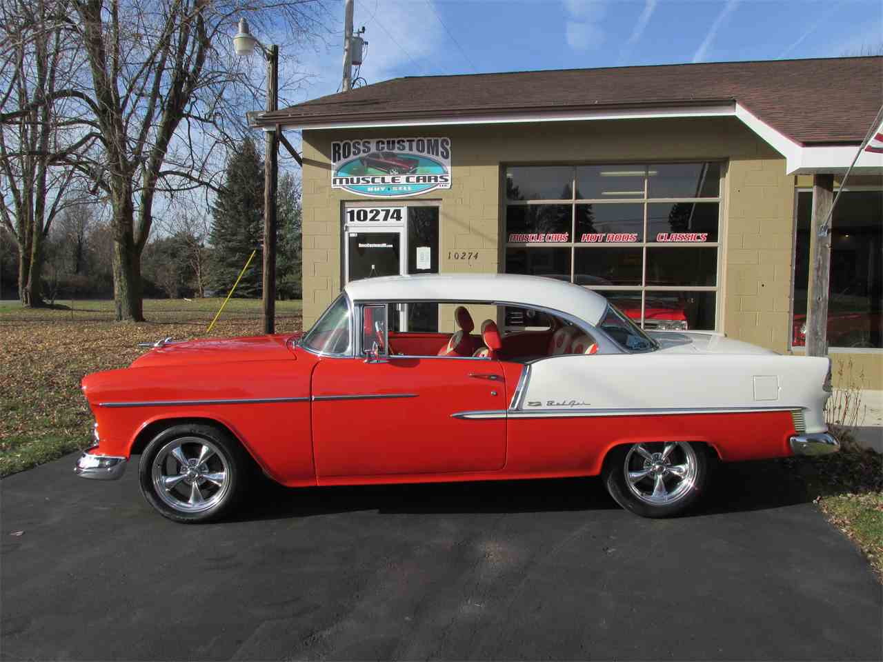 Large Picture of 1955 Bel Air located in Goodrich Michigan Offered by Ross Custom Muscle Cars LLC - MB7V