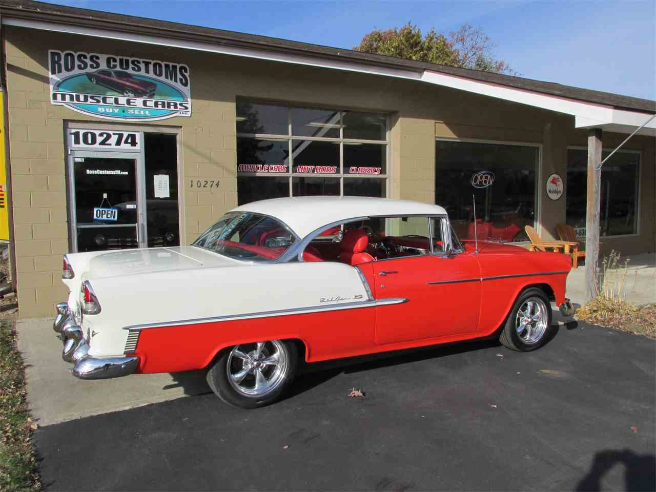 Large Picture of '55 Chevrolet Bel Air located in Goodrich Michigan Offered by Ross Custom Muscle Cars LLC - MB7V