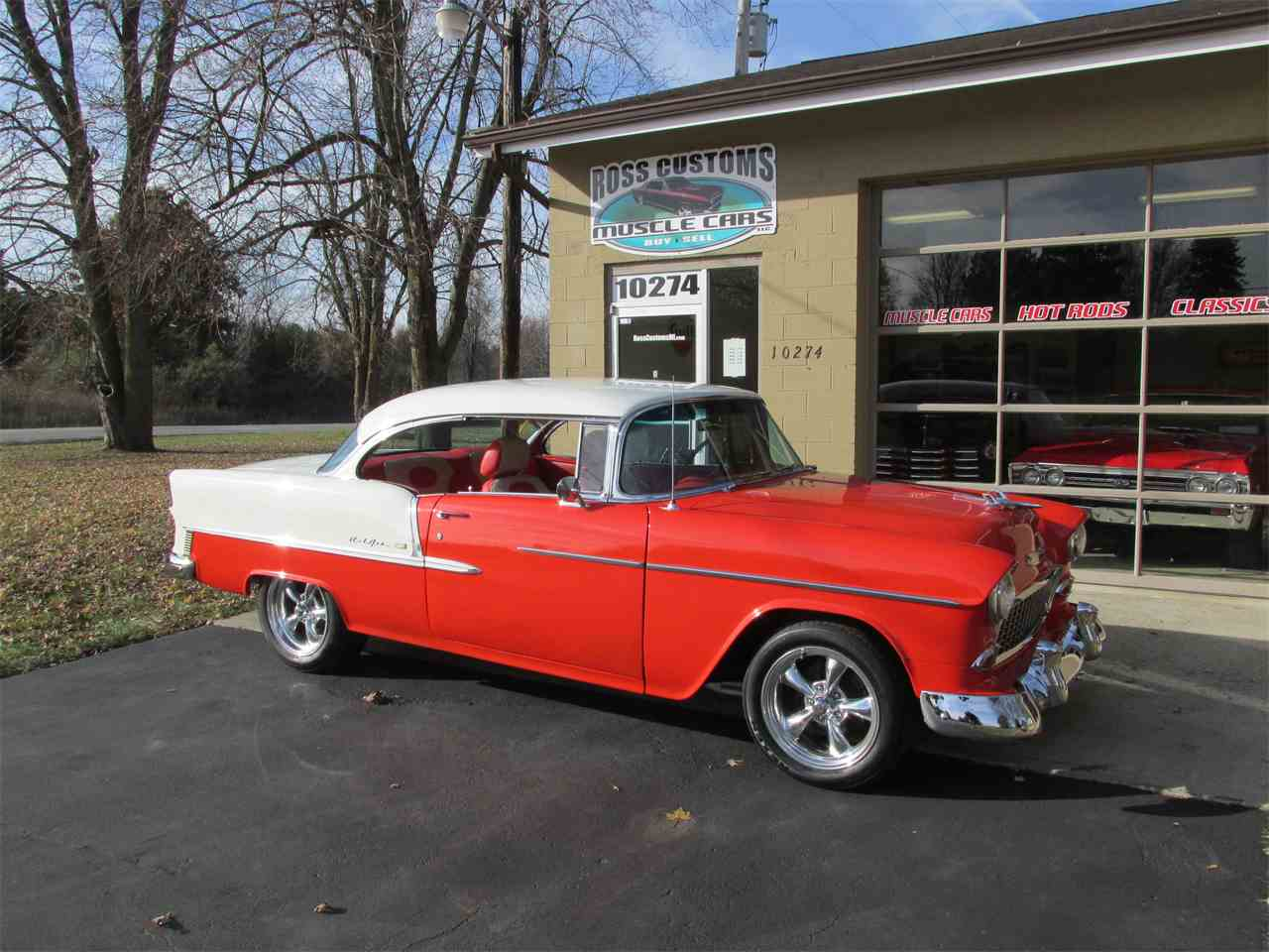 Large Picture of Classic 1955 Chevrolet Bel Air located in Michigan Offered by Ross Custom Muscle Cars LLC - MB7V