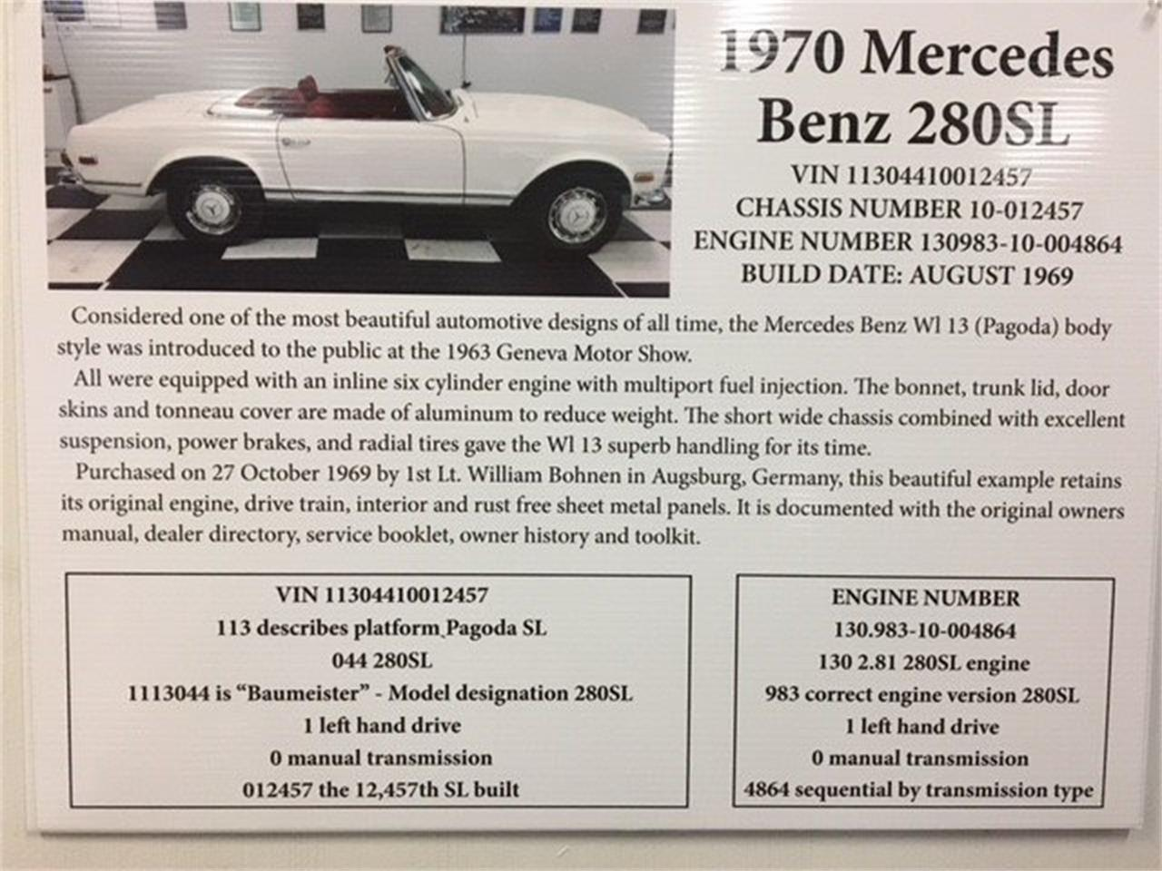 Large Picture of 1970 Mercedes-Benz 280SL located in North Carolina Auction Vehicle Offered by GAA Classic Cars Auctions - MKVK