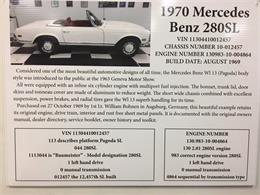 Picture of Classic '70 280SL Auction Vehicle Offered by GAA Classic Cars Auctions - MKVK