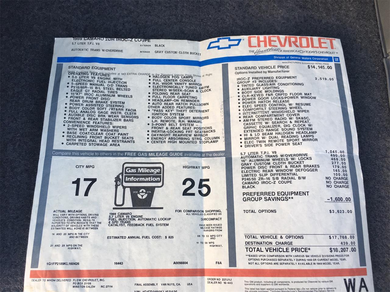 Large Picture of '89 Camaro IROC Z28 located in Texas - $25,000.00 Offered by a Private Seller - MZ5V