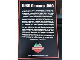 Picture of '89 Camaro IROC Z28 - MZ5V