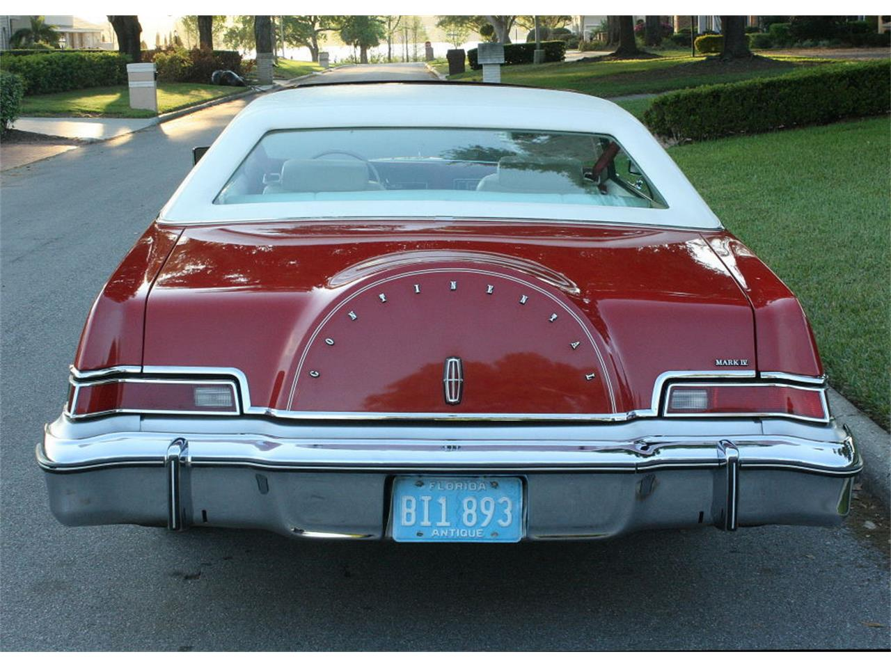 Large Picture of 1975 Lincoln Continental Mark IV located in Florida Offered by MJC Classic Cars - MZD3