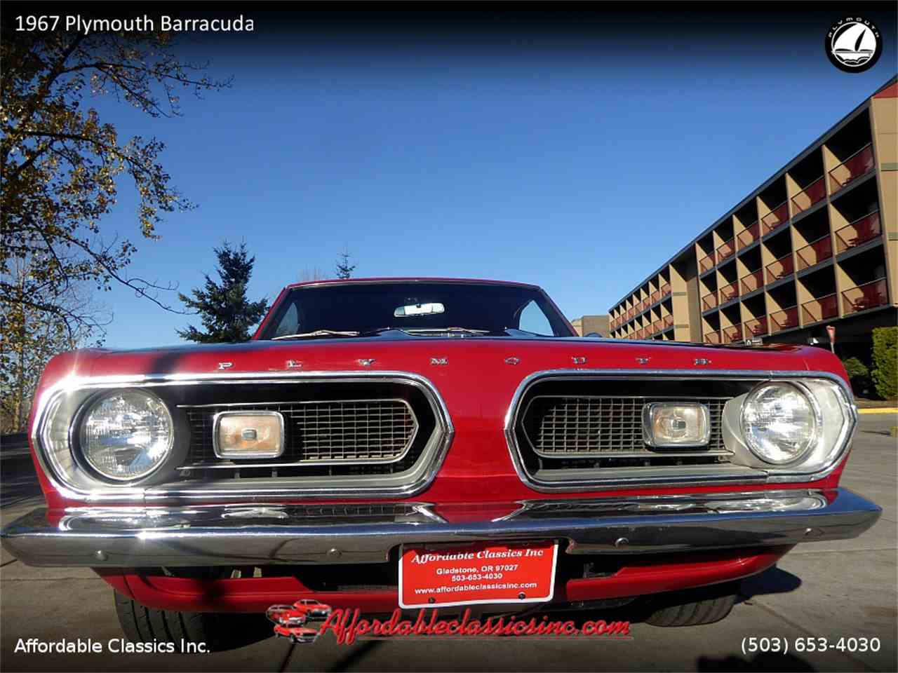 1967 Plymouth Barracuda for Sale | ClassicCars.com | CC-1075202