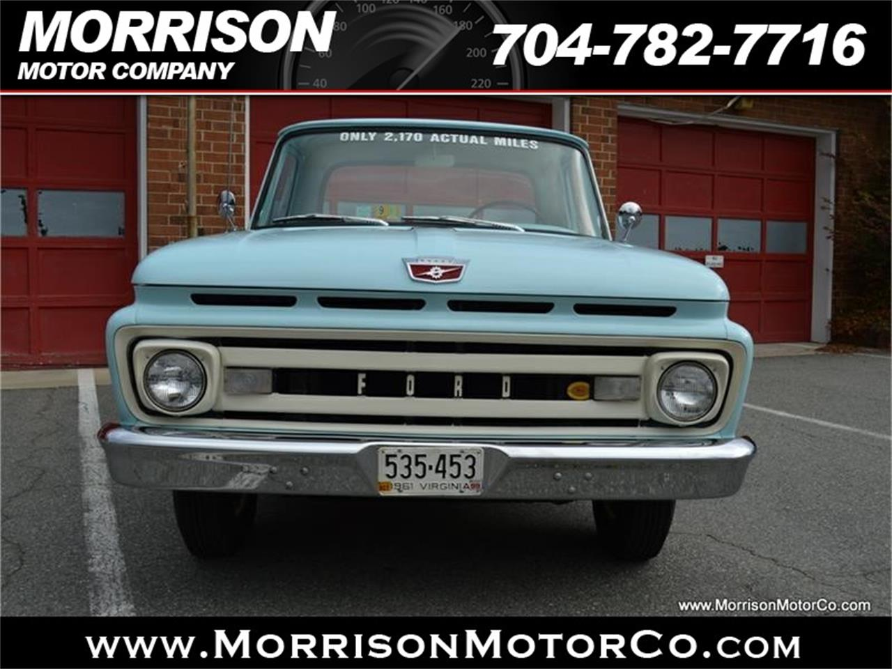 Large Picture of Classic 1961 Ford F100 - $28,900.00 Offered by Morrison Motor Company - N2N5