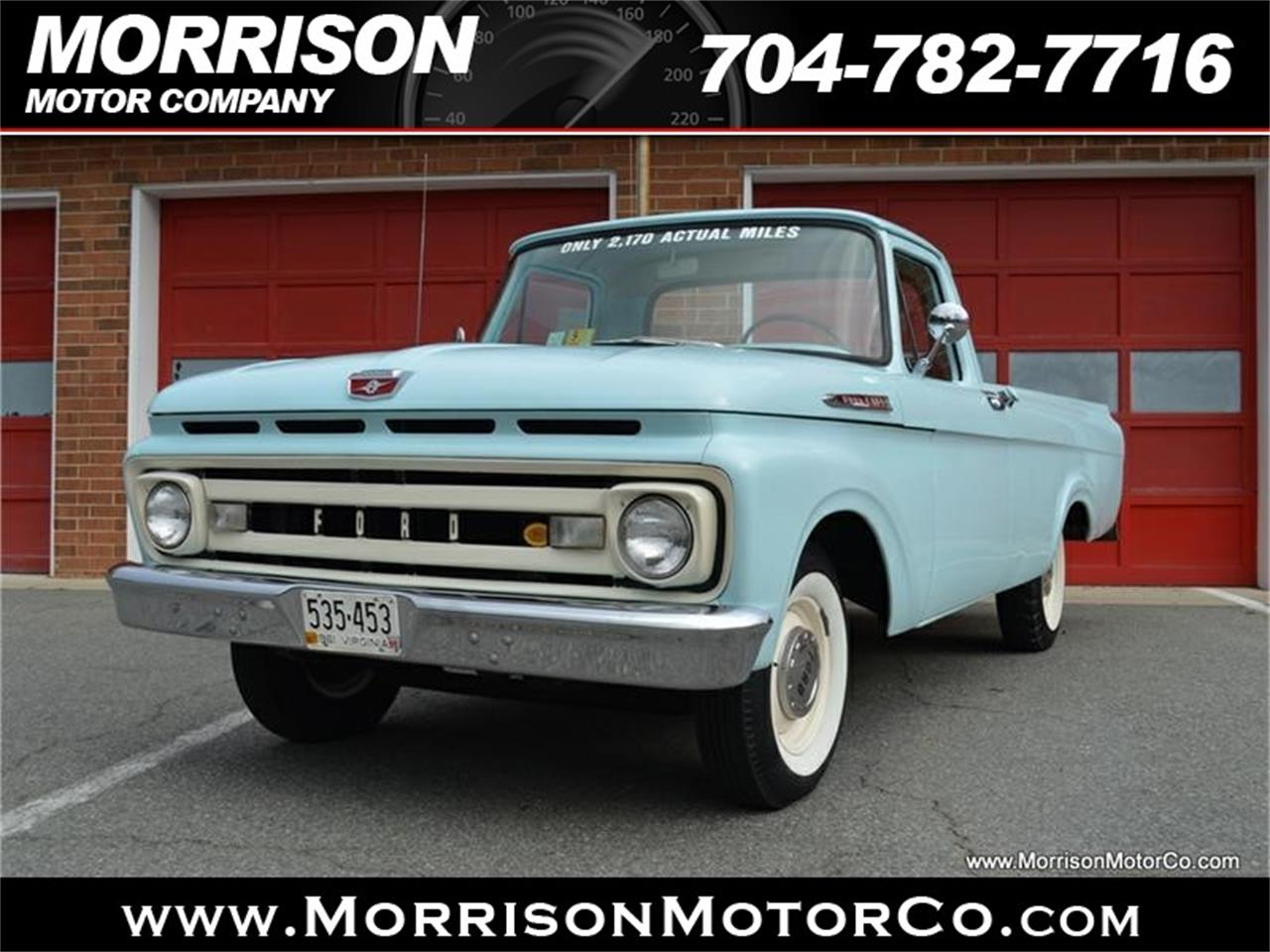Large Picture of Classic 1961 Ford F100 located in Concord North Carolina Offered by Morrison Motor Company - N2N5