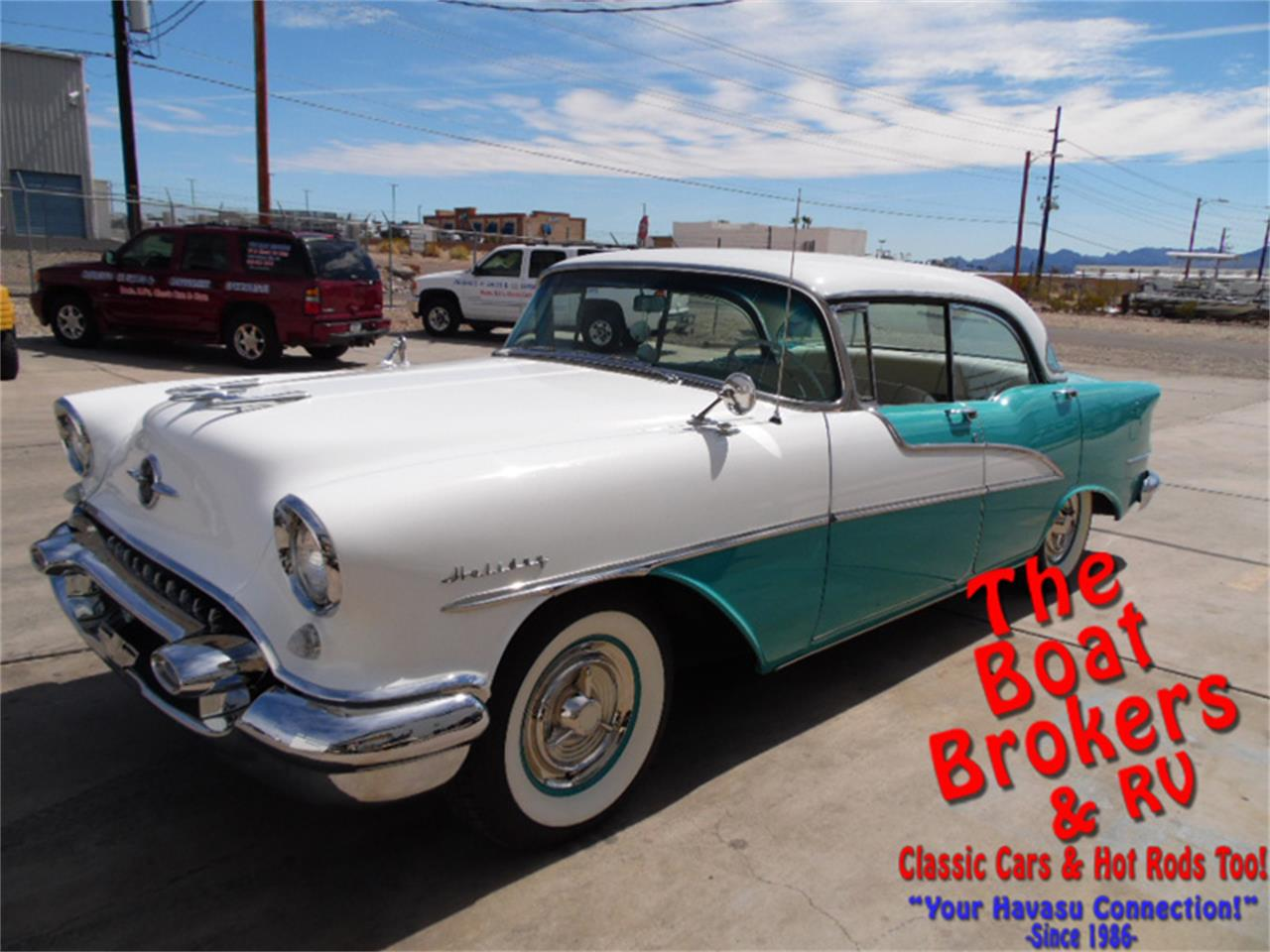 Large Picture of '55 Oldsmobile Holiday Rocket 88 located in Lake Havasu Arizona Offered by The Boat Brokers - N2PY