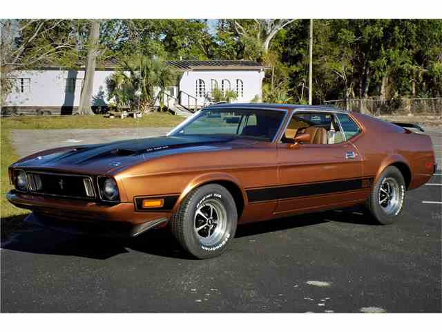 Picture of Classic 1973 Ford Mustang Mach 1 located in West Palm Beach Florida Auction Vehicle Offered by Barrett-Jackson Auctions - N3CB