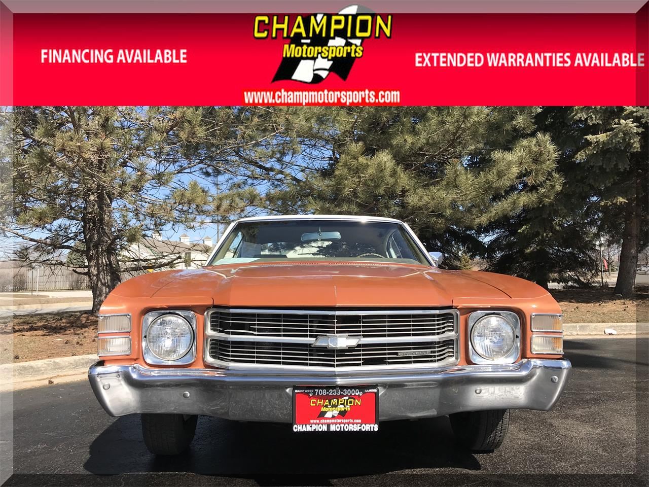 Large Picture of '71 Chevelle Malibu located in Illinois Offered by Champion Motorsports - N55J