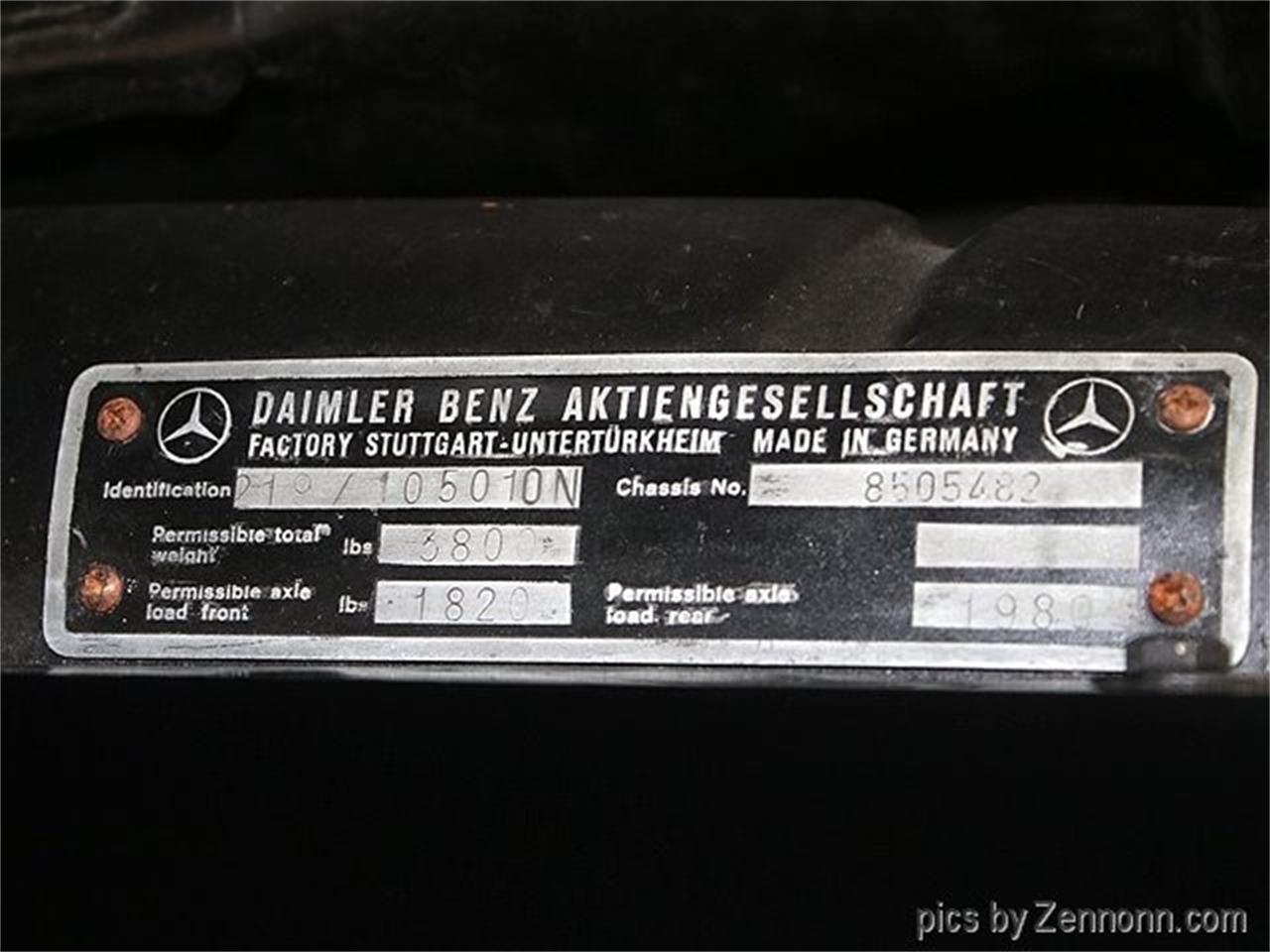 For Sale: 1958 Mercedes-Benz W105 in Addison, Illinois