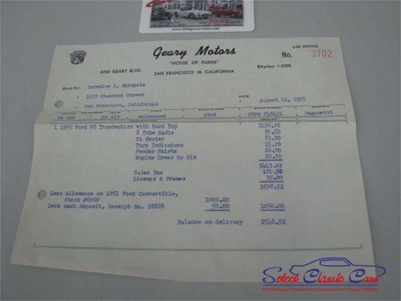 Large Picture of '55 Thunderbird - NTU3