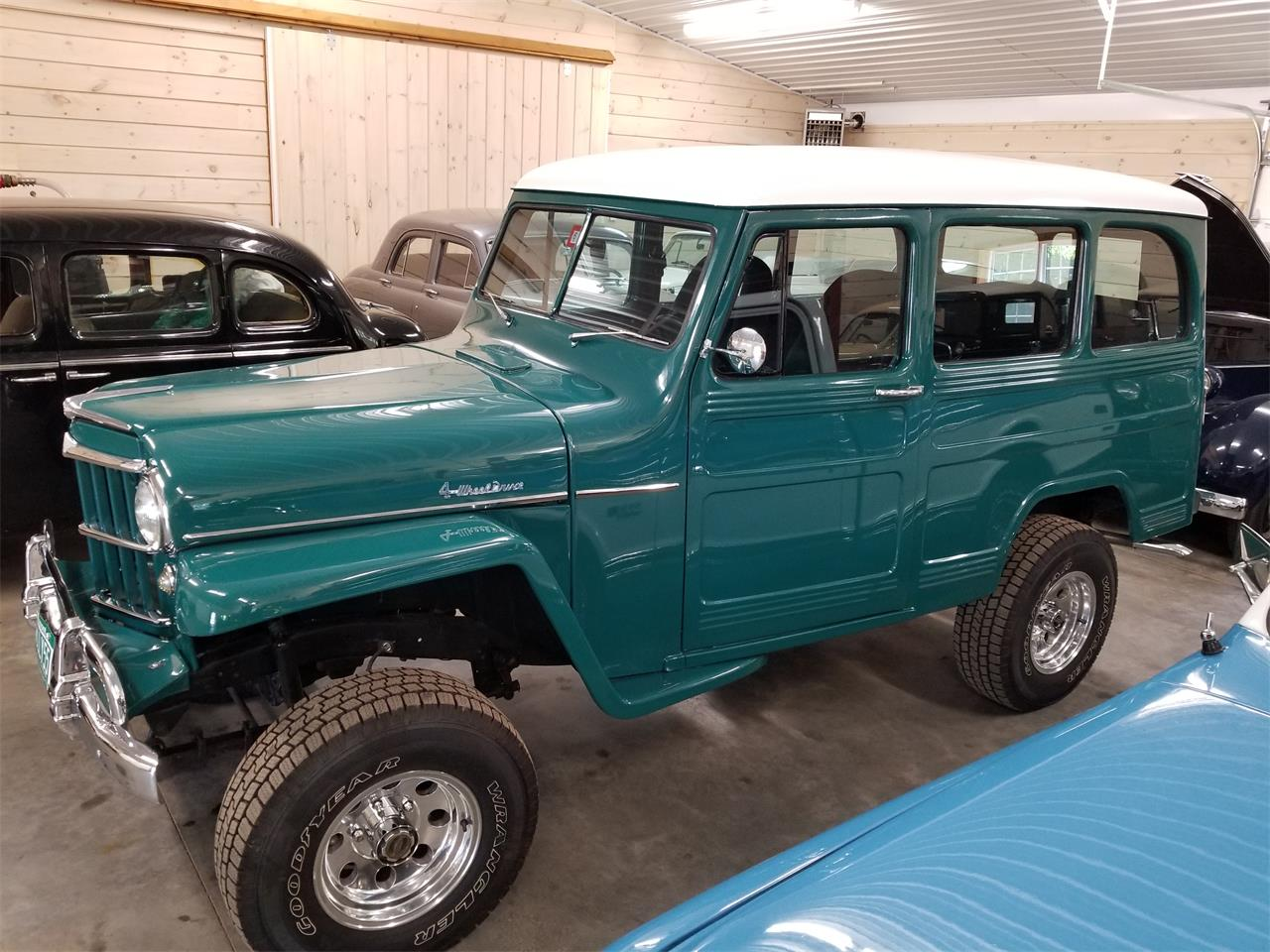 1955 willys jeep wagon for sale cc 1113790. Black Bedroom Furniture Sets. Home Design Ideas