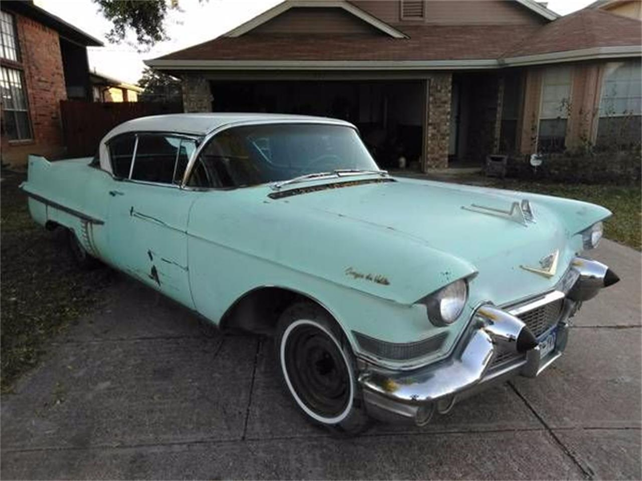 1957 Cadillac Coupe DeVille - white over pink - fvr ...