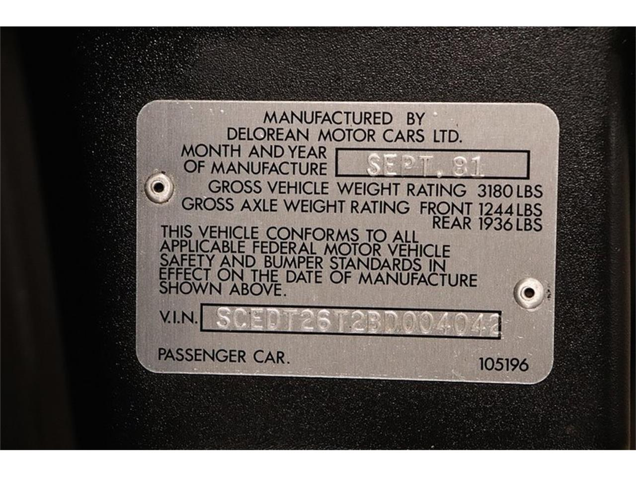 Large Picture of '81 DMC-12 - OAJL