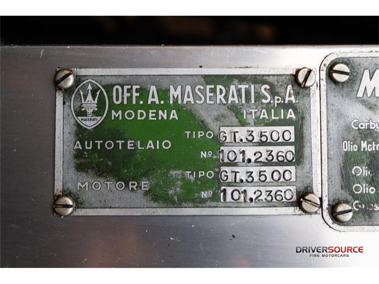 Large Picture of Classic '62 Maserati 3500 located in Houston Texas Offered by Driversource - OCR7