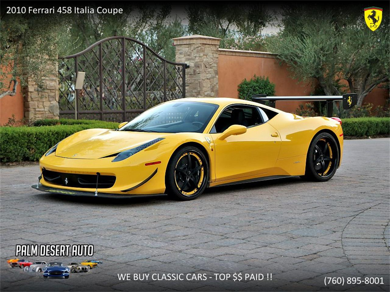 Ferrari 458 Italia For Sale >> 2010 Ferrari 458 Italia For Sale Classiccars Com Cc 1138693