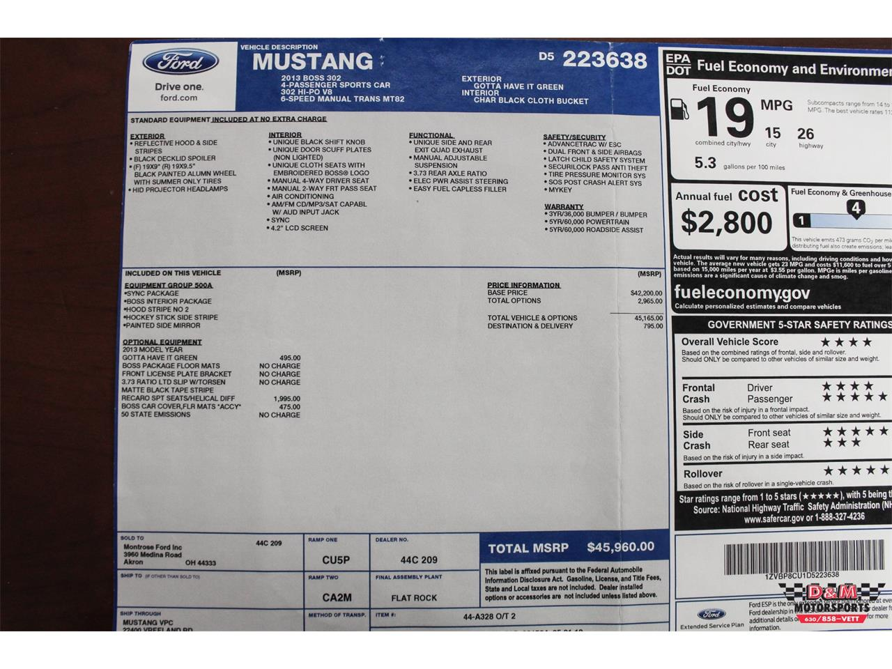 Large Picture of '13 Mustang - OIA9