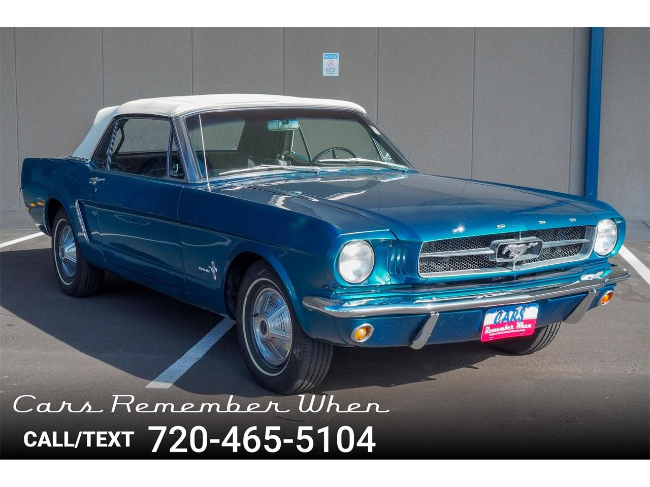 Large picture of classic 1964 mustang located in littleton colorado offered by cars remember when
