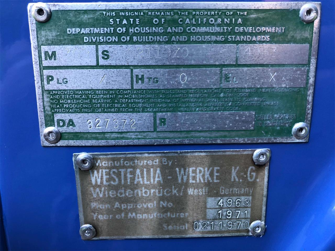 Large Picture of '72 Westfalia Camper - OPEB