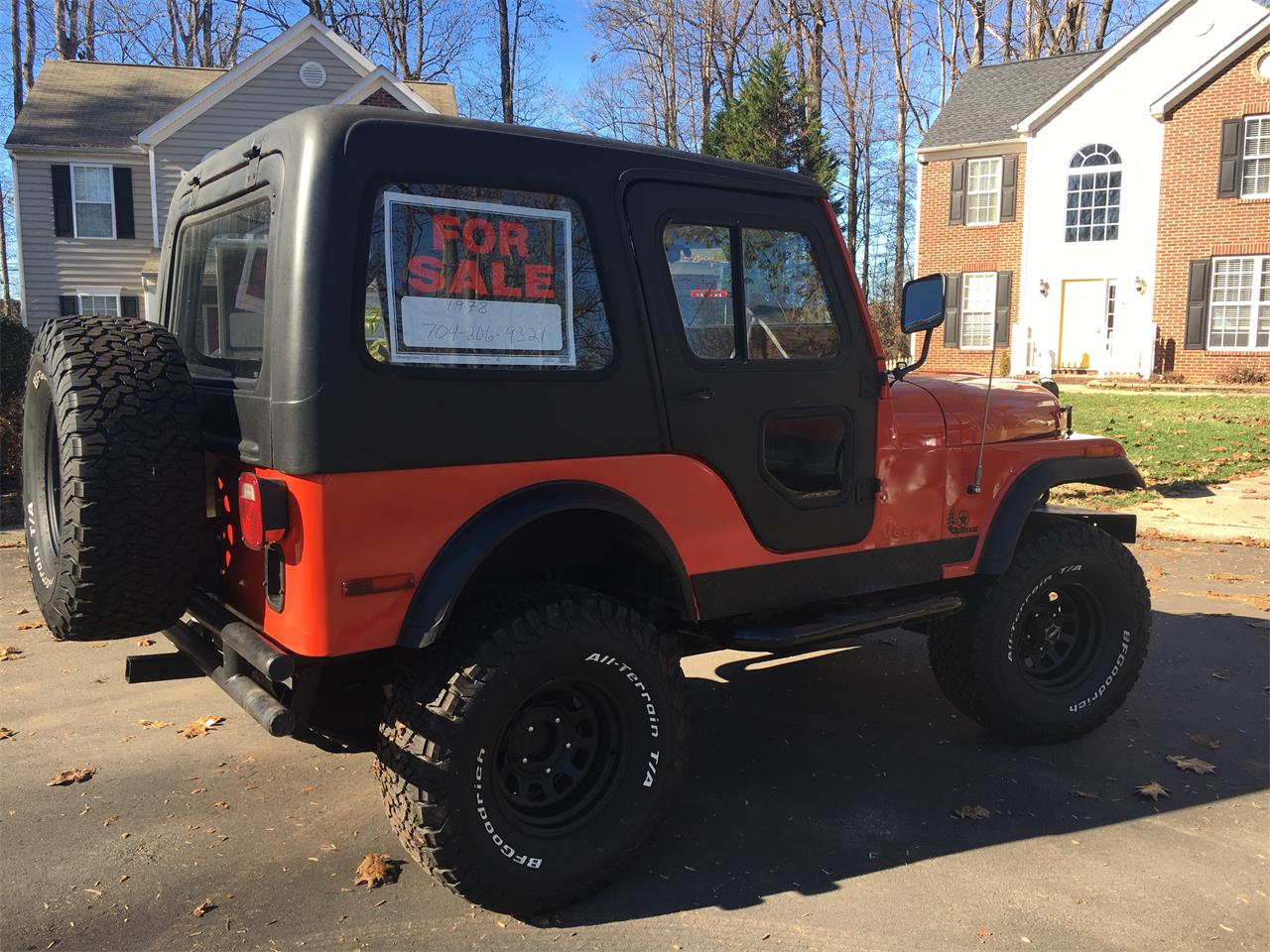 Large Picture of 1978 Jeep CJ5 located in North Carolina Offered by a Private Seller - P882