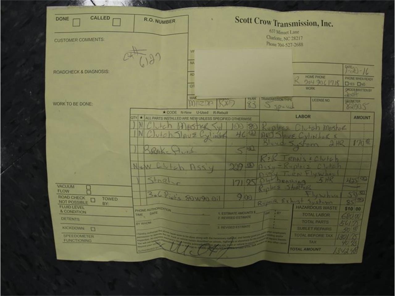 For Sale: 1983 Mazda RX-7 in Concord, North Carolina
