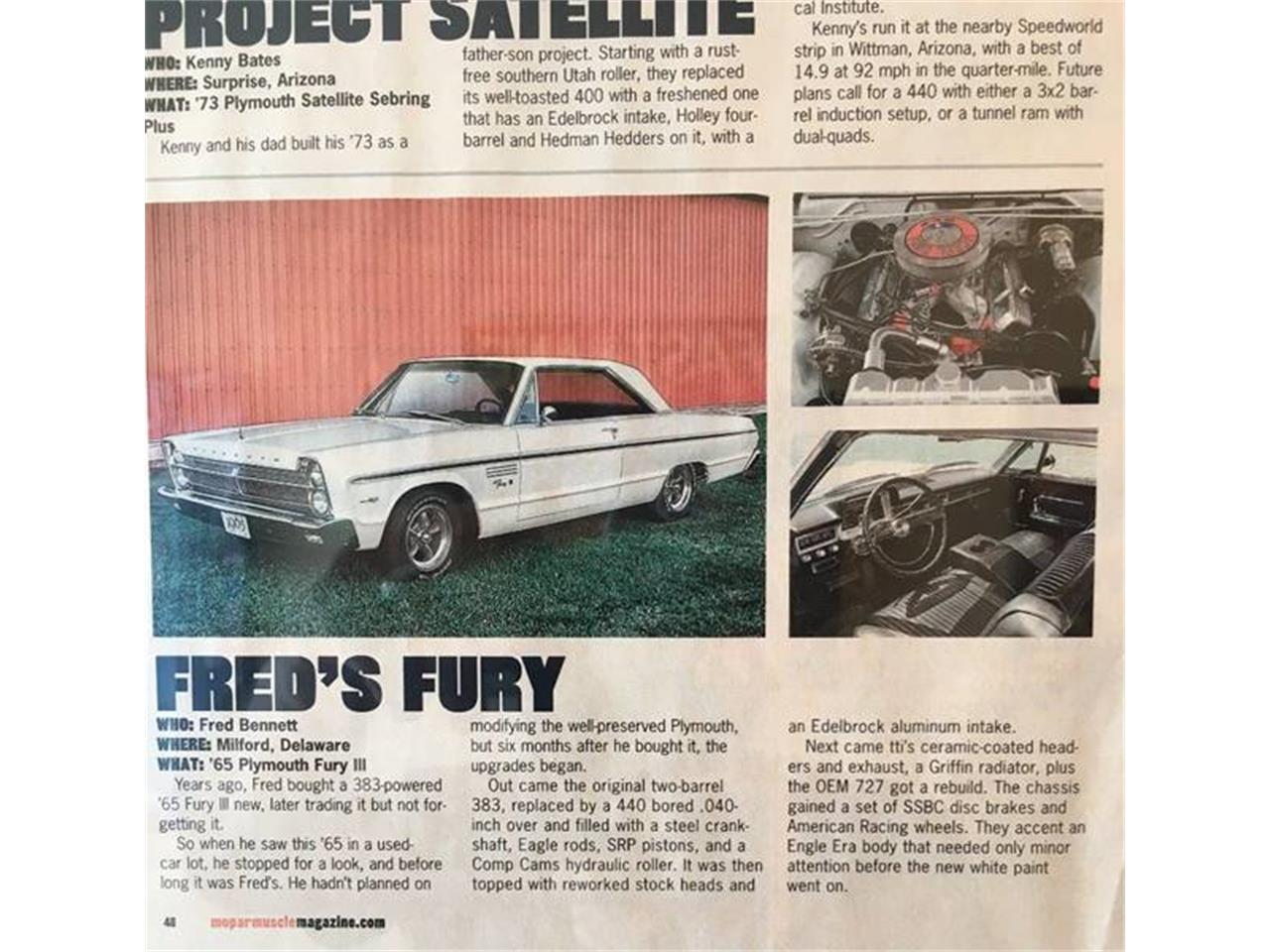 For Sale: 1965 Plymouth Fury in Clarksburg, Maryland