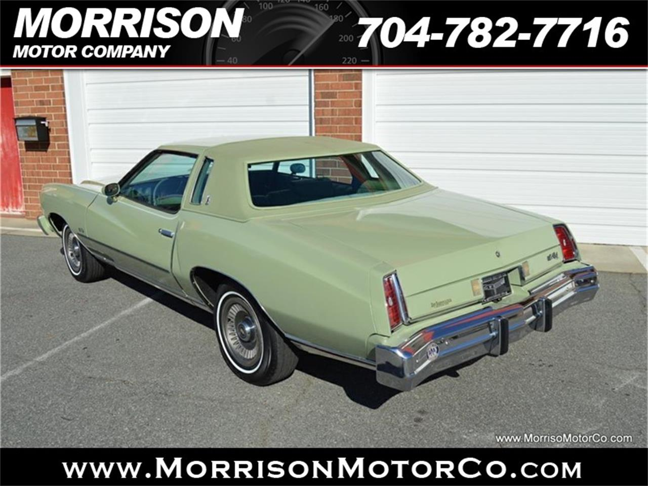 Large Picture of 1974 Monte Carlo located in Concord North Carolina Offered by Morrison Motor Company - PEZN