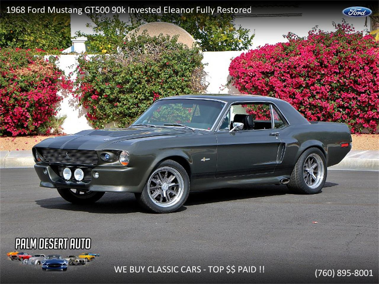 68 Shelby Gt500 >> For Sale 1968 Ford Mustang Shelby Gt500 In Palm Desert California