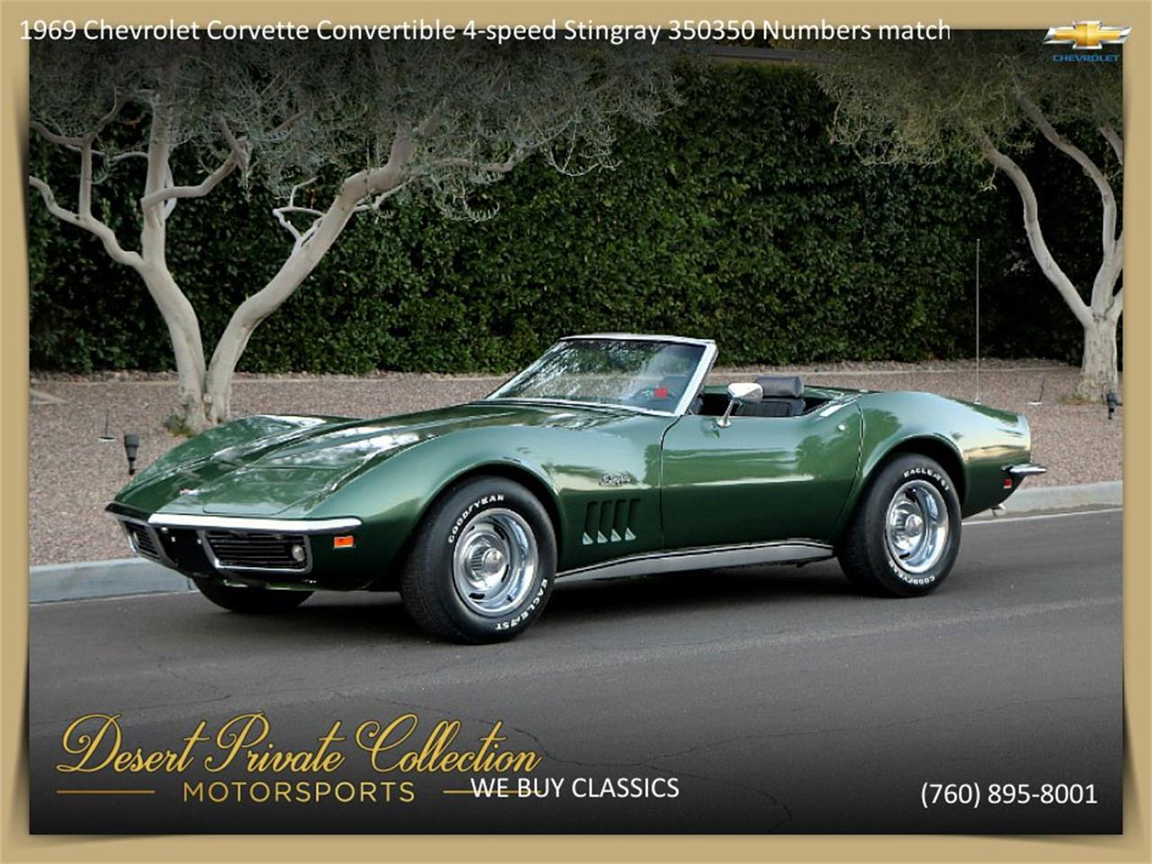 Corvette Stingray 1969 >> For Sale 1969 Chevrolet Corvette Stingray In Palm Desert California