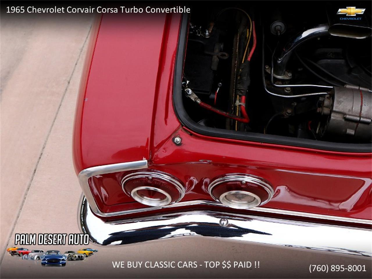 Large Picture of 1965 Chevrolet Corvair Offered by Palm Desert Auto - PFFC