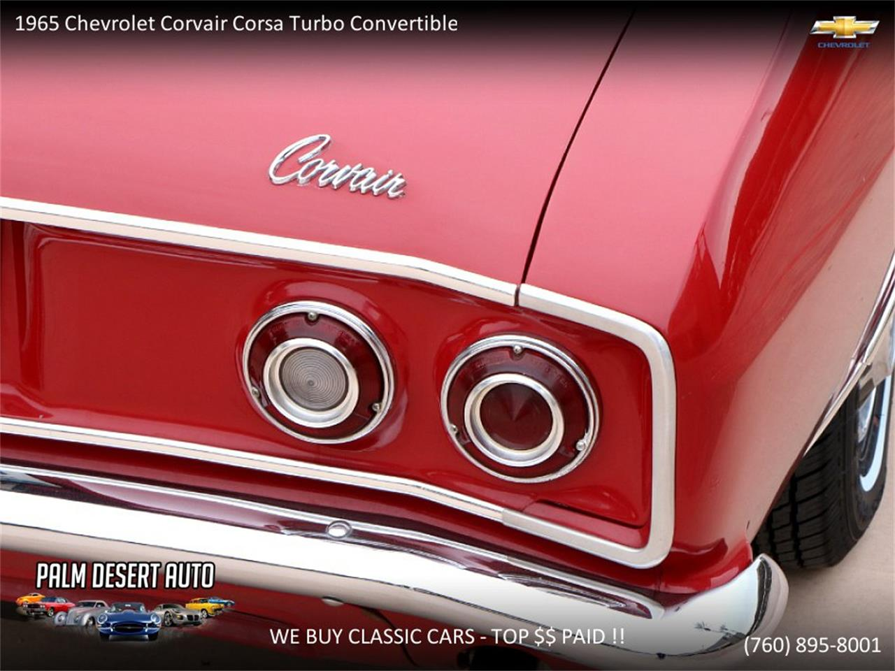Large Picture of Classic '65 Chevrolet Corvair located in Palm Desert  California - $17,750.00 Offered by Palm Desert Auto - PFFC