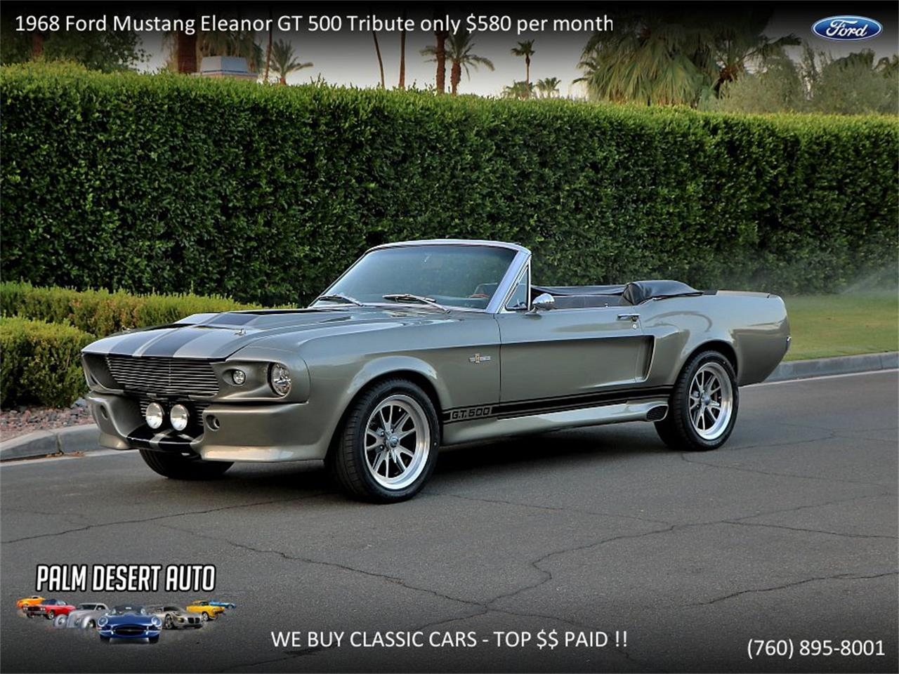 Large picture of classic 1968 ford mustang shelby gt500 located in palm desert california 59750 00