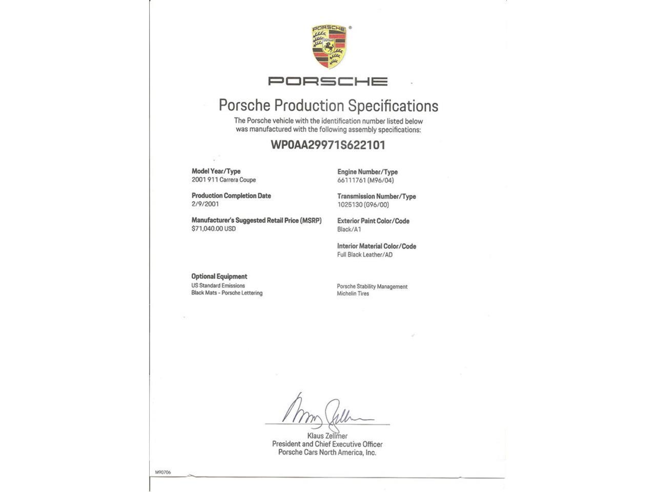 2001 Porsche 911 Carrera for Sale   ClassicCars com   CC-1204929