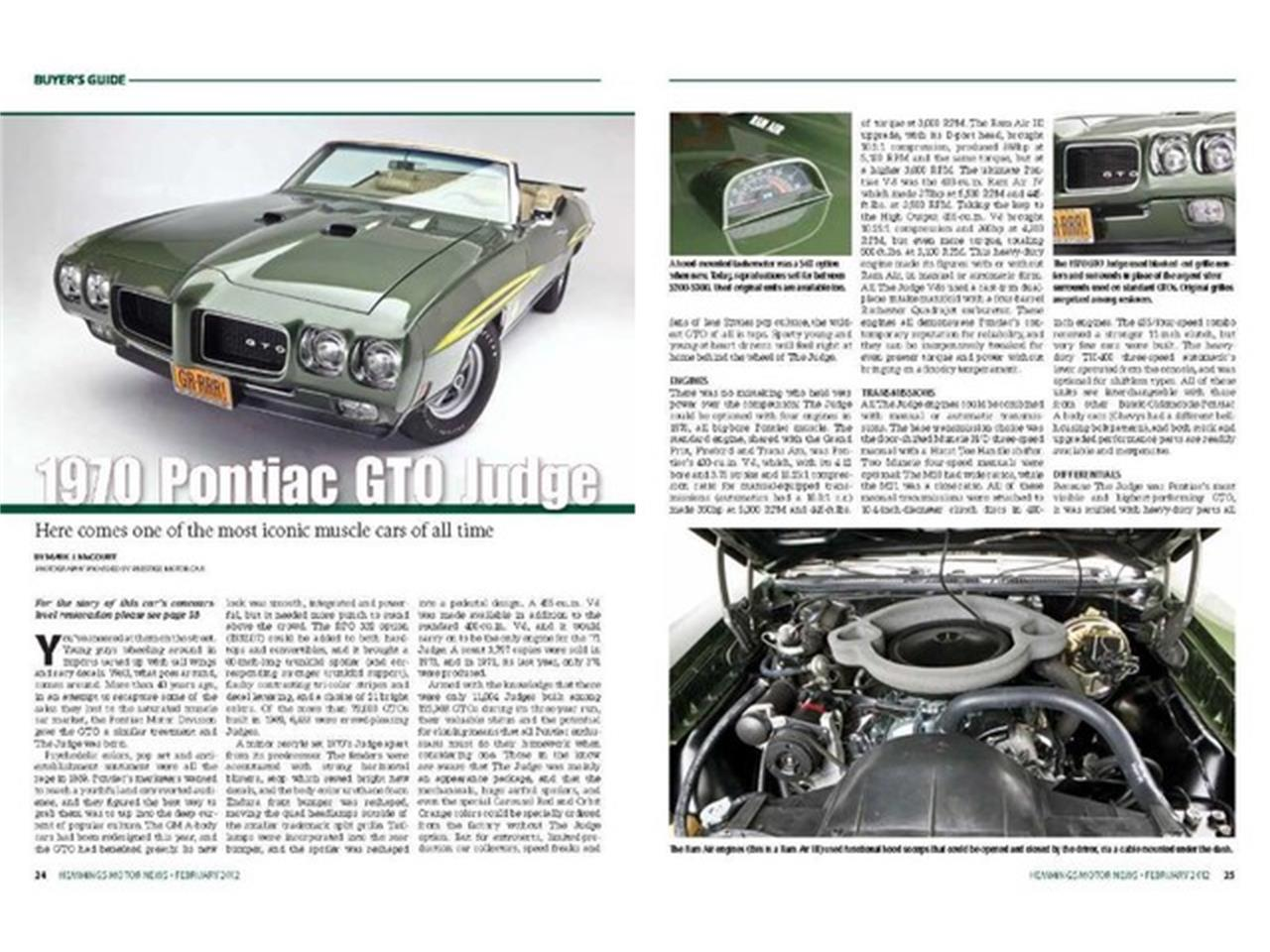 Large Picture of Classic 1970 GTO (The Judge) - $219,000.00 Offered by Prestige Motor Car Co. - PU25